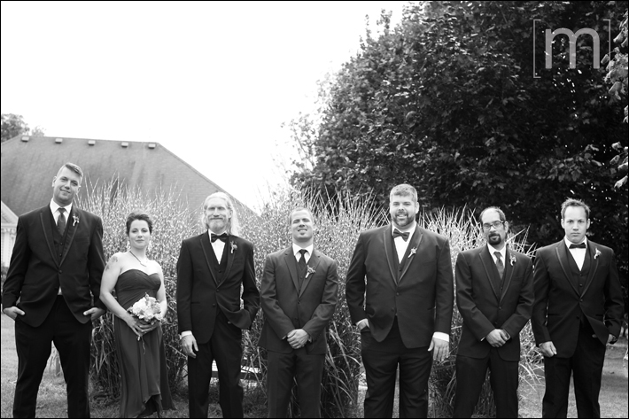 a photo of the wedding party at sue ann staff winery in niagara on the lake