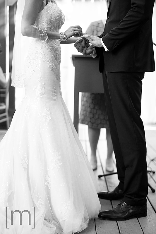 a wedding photo of the vows at the ceremony at berkeley field house toronto