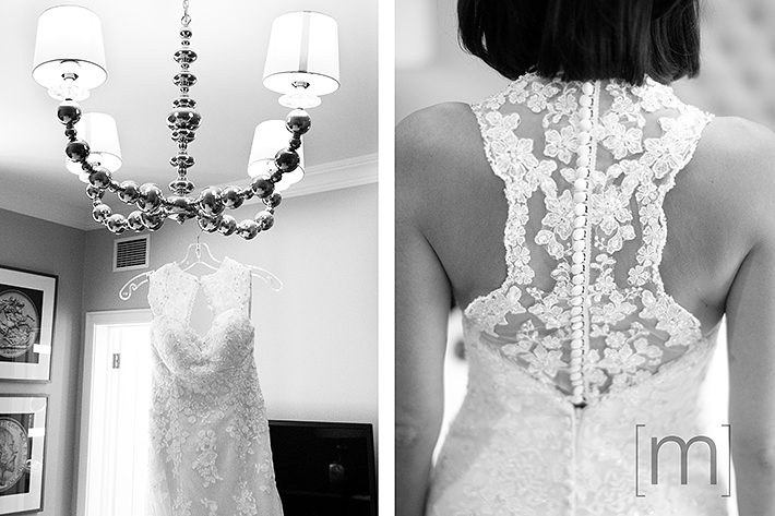a wedding photo of the bride's dress at king edward hotel toronto