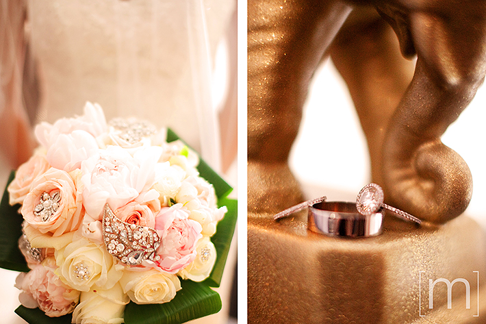a wedding photo of a couple's rings at berkeley field house toronto
