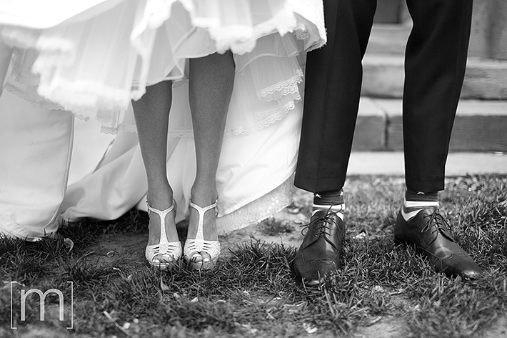 a wedding photo of the shoes at berkeley field house toronto