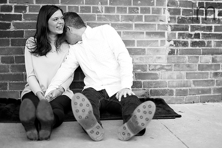 an engagement photo in toronto