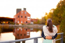 an engagement shoot at brickworks toronto ontario