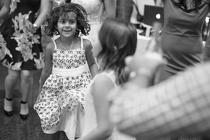 a photo of kids dancing at a wedding at st lawrence market toronto