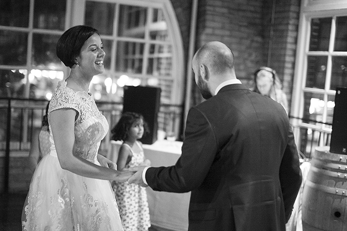 a photo of the first dance at a wedding at st lawrence market toronto