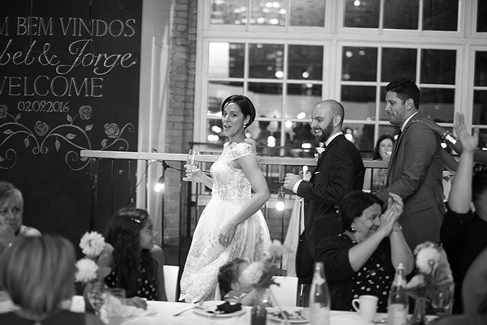 a photo of the dancing at a wedding at st lawrence market toronto