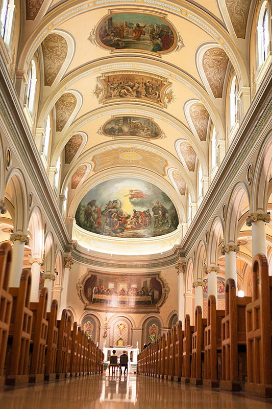 a photo at a wedding at st pauls basilica toronto