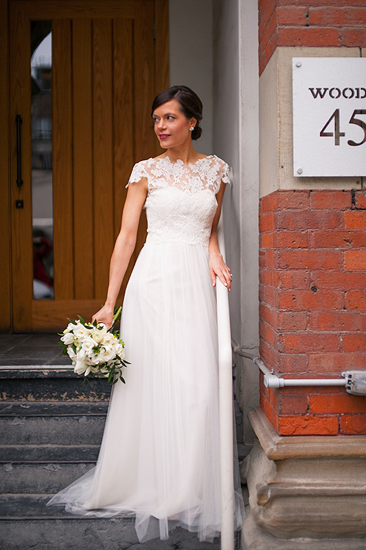 a portrait of the bride at a wedding in toronto