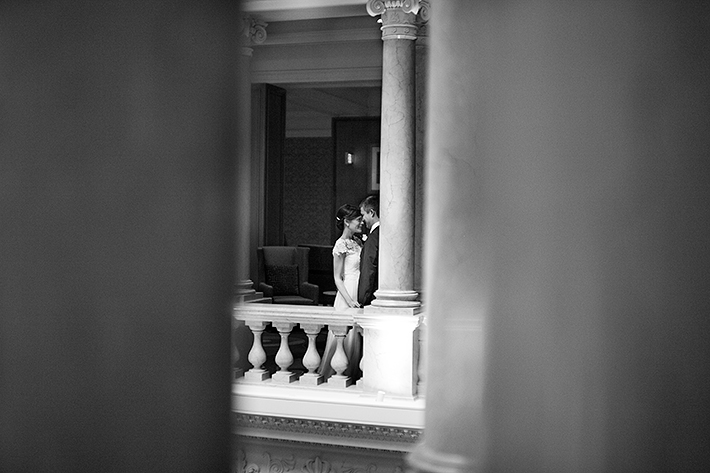 a photo of the first look at king edward hotel at a wedding in toronto