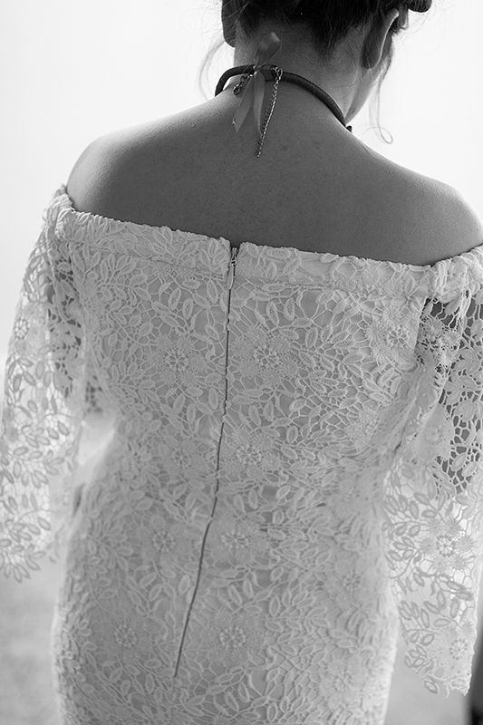 a photo of the back of the bride's gown at a frida inspiration wedding in vancouver