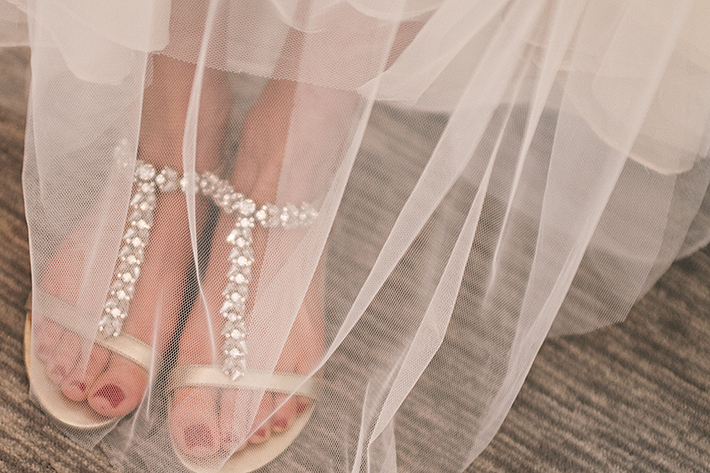 a photo of the bride's shoes at a wedding in toronto