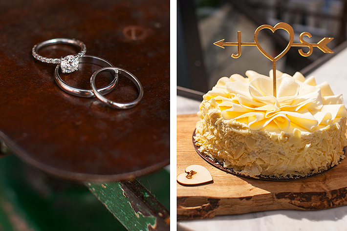 a photo of the ring details at a wedding at gusto restaurant in toronto