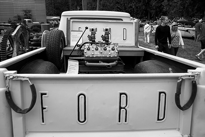 a travel photo of a ford truck at the antique car show at saanich museum in sidney british columbia