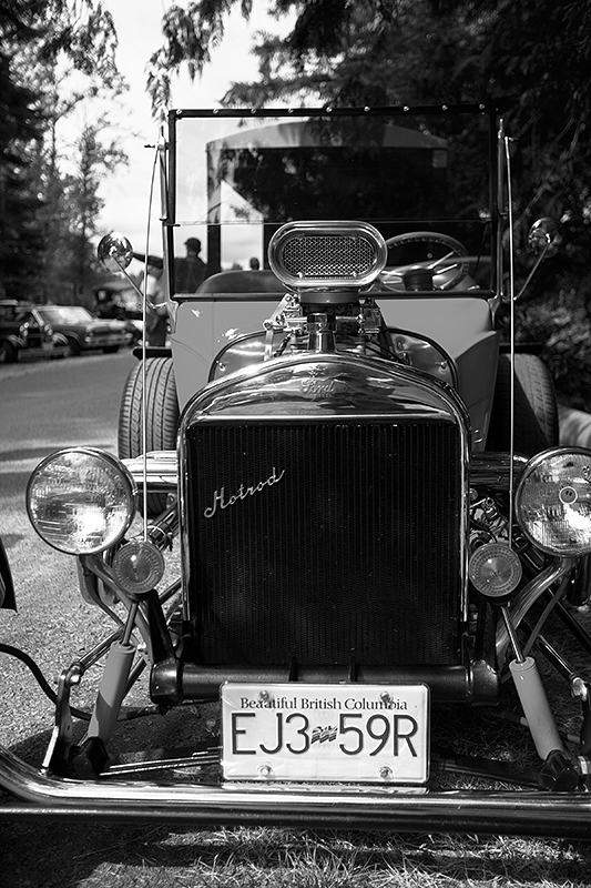 a travel photo of a hotrod at the antique car show at saanich museum in sidney british columbia