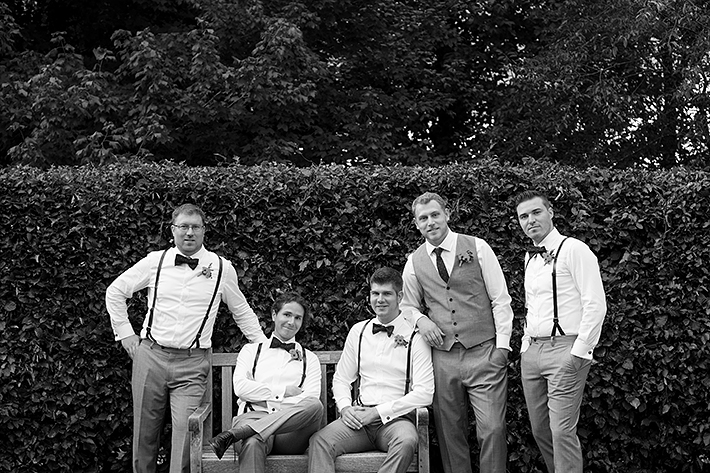 a groomsmen photo at a wedding at the arboretum in guelph ontario