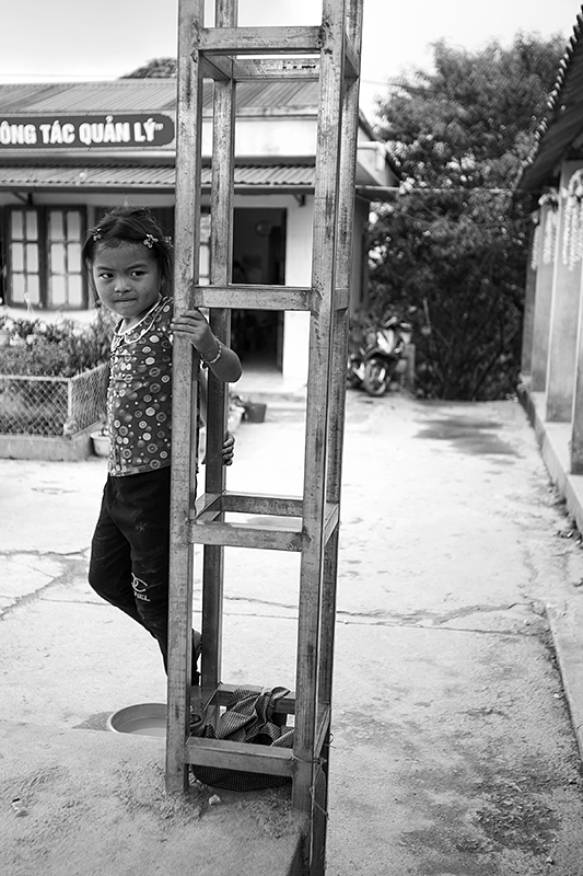 a travel photo from northern vietnam plan canada girl climbing at school