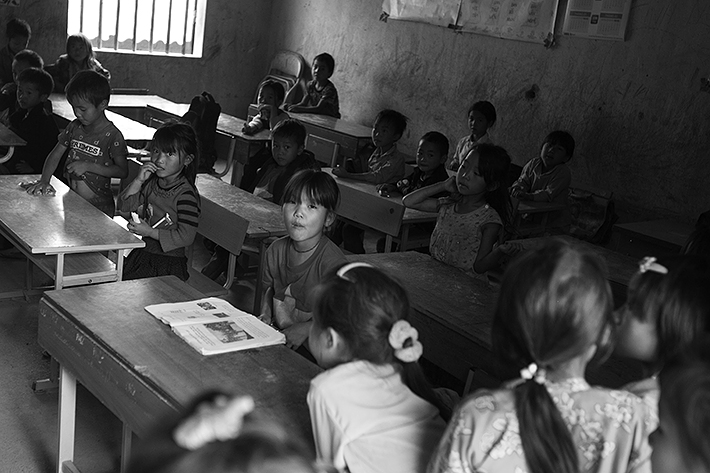 a travel photo from northern vietnam plan canada kids eating lunch at school