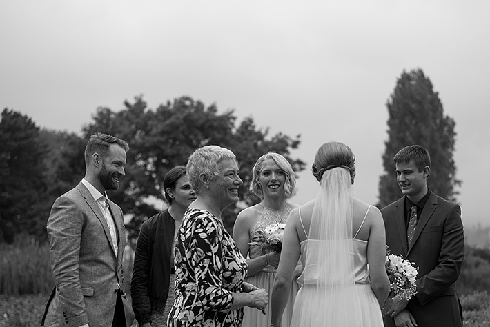 a summer wedding photo of guest candids at the museum of vancouver british columbia