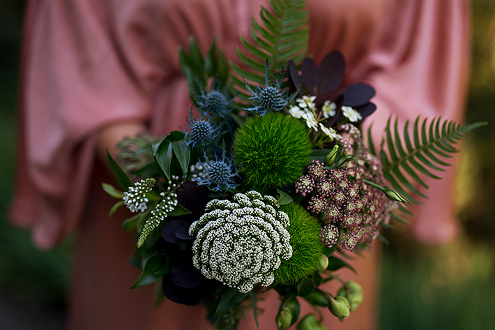 a summer wedding photo of bridesmaid bouquet in vancouver british columbia