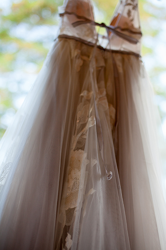a summer wedding of the bride's dress hanging in vancouver british columbia