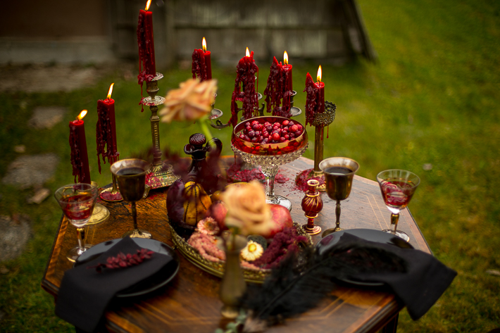 a styled wedding table of burnaby candles and decor in the autumn pemberton british columbia