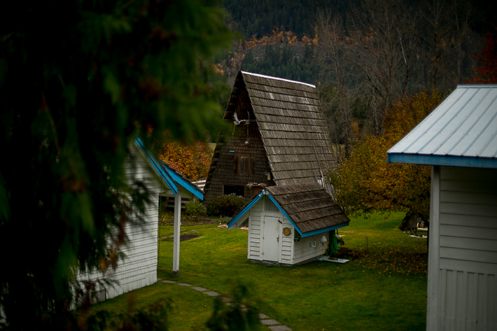a styled wedding of the small wooden pointed cottages in autumn pemberton british columbia