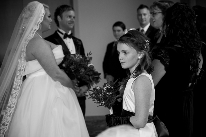 a fall wedding of the ceremony with their daughter at the westwood plateau golf club coquitlam british columbia