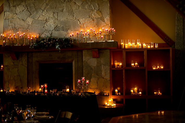 a fall wedding of the reception details candles at the westwood plateau golf club coquitlam british columbia