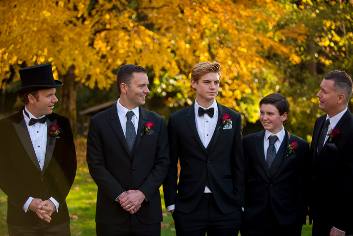 a fall wedding of the wedding party at the westwood plateau golf club coquitlam british columbia