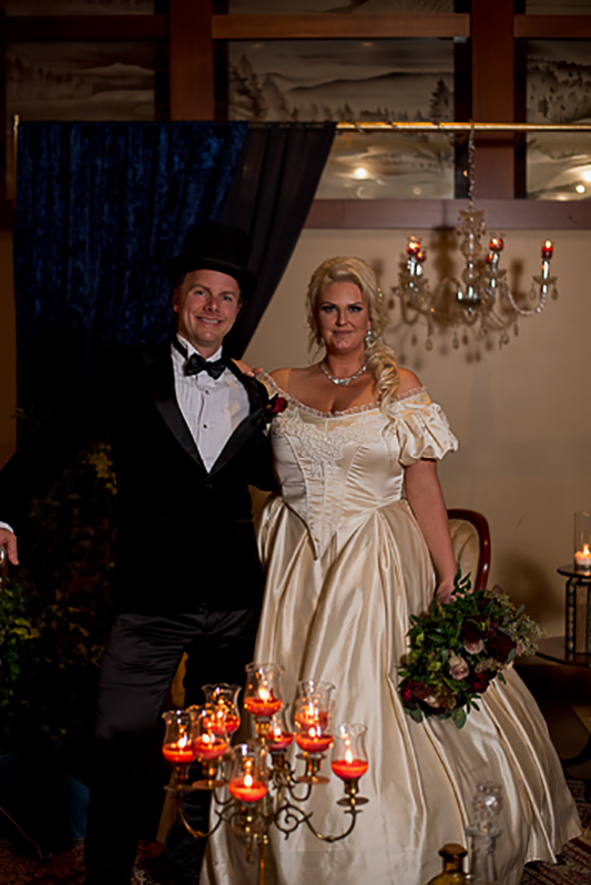 a fall wedding of the couple in the salon at the westwood plateau golf club coquitlam british columbia