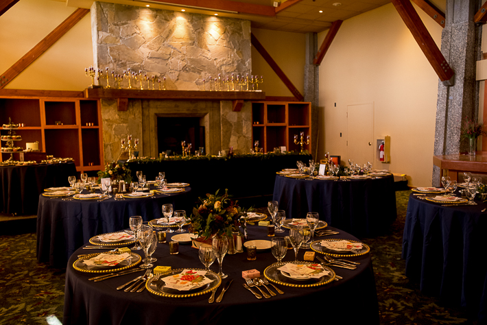 a fall wedding of the reception details at the westwood plateau golf club coquitlam british columbia