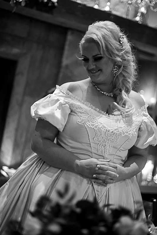 a fall wedding of the reception candids front of the victorian dress at t he westwood plateau golf club coquitlam british columbia