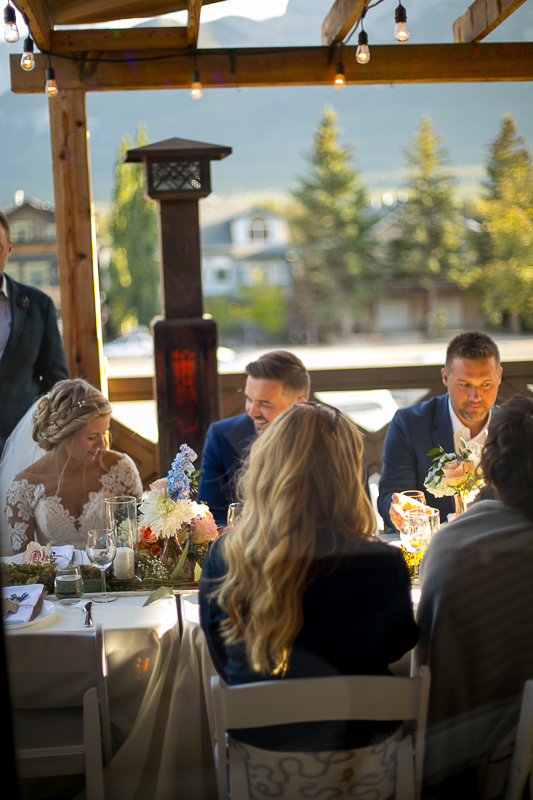 a summer wedding details in the hive gallery canmore alberta