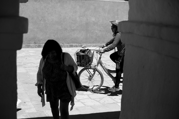 a travel photo of locals walking in san pedro chile south america