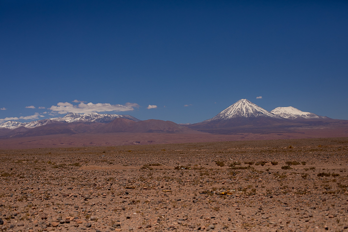 a travel photo of the volcanoes in chile south america