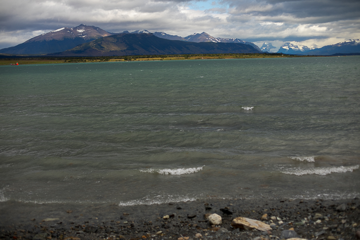 a travel photo of the view of torres del paine in puerto natales chile south america