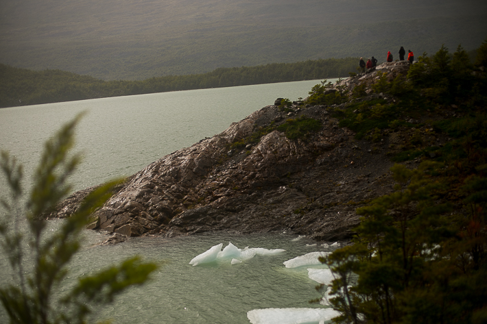 a travel photo of a a lush hill with glaciers in los glaciares national park inside torres del paine chile south america