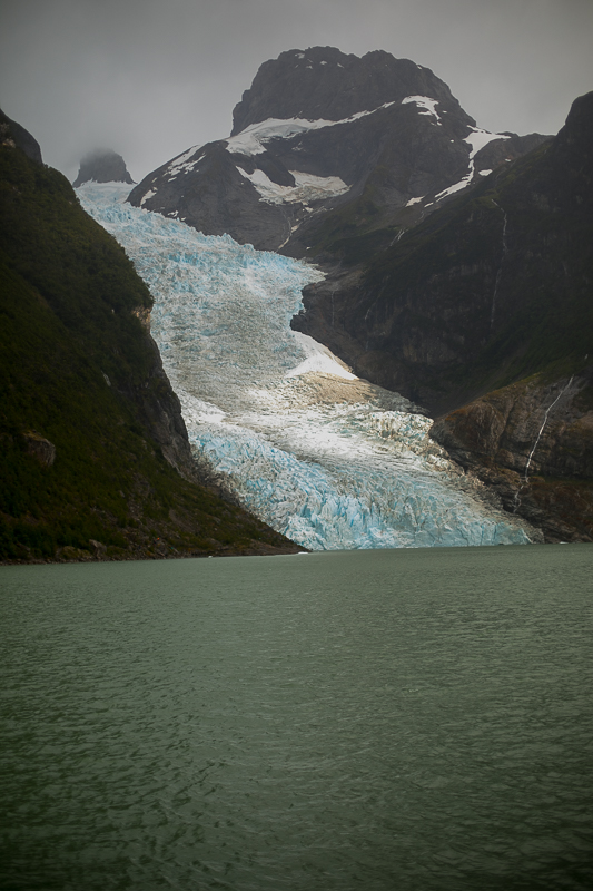 a travel photo of a mountain with glaciers in los glaciares national park inside torres del paine chile south america