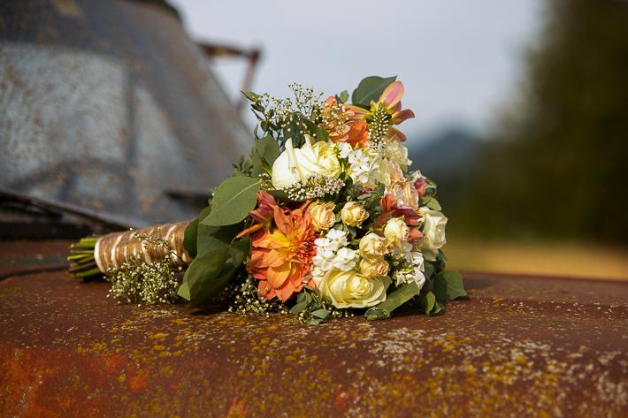 a summer wedding photo at the secret garden in abbotsford british columbia
