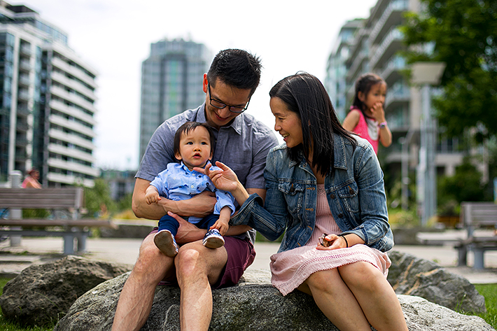 a photo of a family at the science world harbourfront vancouver british columbia